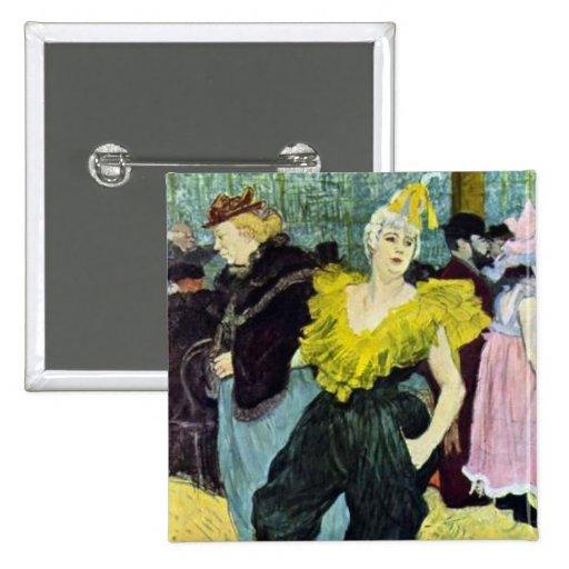 Toulouse Lautrec a imagem do vintage de Clowness, Boton