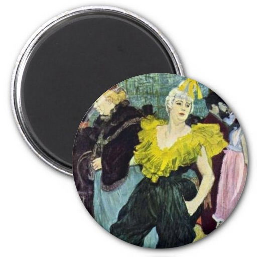 Toulouse Lautrec a imagem do vintage de Clowness, Imã De Geladeira