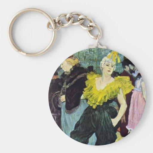 Toulouse Lautrec a imagem do vintage de Clowness, Chaveiro