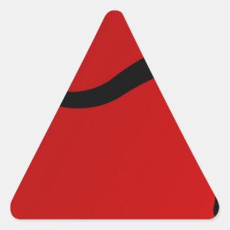 Touro preto no vermelho adesivo triangular