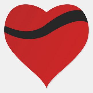 Touro preto no vermelho adesivos de corações