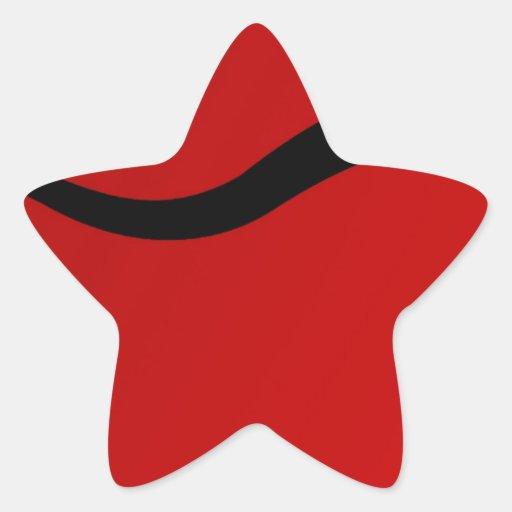 Touro preto no vermelho adesivo estrela