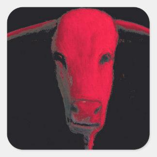 Touro vermelho adesivo