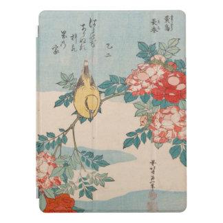 Toutinegra do vintage de Hokusai e rosas GalleryHD Capa Para iPad Pro