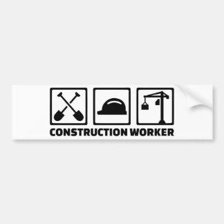Trabalhador da construção adesivo de para-choque