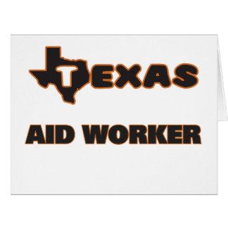 Trabalhador de auxílio de Texas Cartão Comemorativo Grande