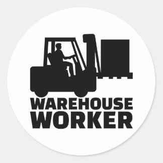 Trabalhador do armazém adesivo