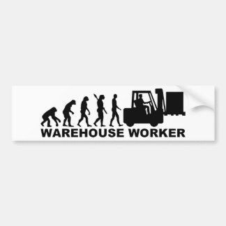 Trabalhador do armazém da evolução adesivo para carro