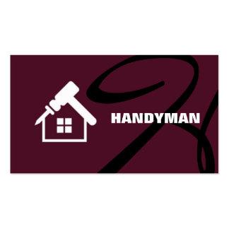 Trabalhador manual, cartão de visita da manutenção