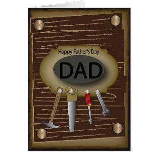 Trabalhador manual feliz do dia dos pais | cartão comemorativo