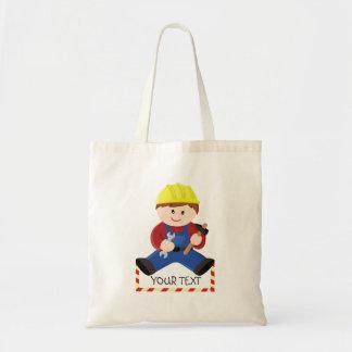 Trabalhador para crianças bolsa tote