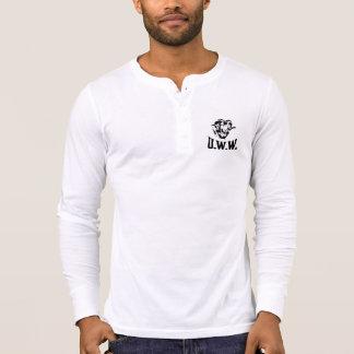 Trabalhadores unidos Henley de lãs Camiseta