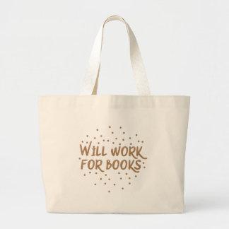 trabalhará para livros bolsa tote grande