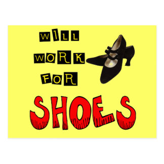 Trabalhará para t-shirt e presentes dos calçados p cartão postal