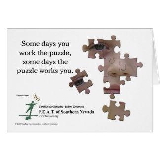 Trabalhe os cartões do quebra-cabeça