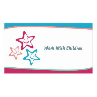 Trabalho com crianças cartão de visita