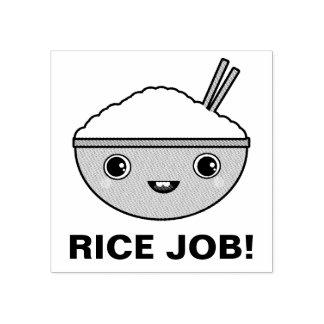 Trabalho do arroz carimbo de borracha