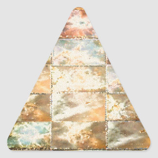 Trabalho do azulejo do VITRAL do estilo do vintage Adesivos Triângulo