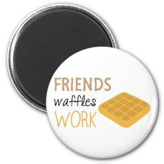 Trabalho dos Waffles dos amigos Imã