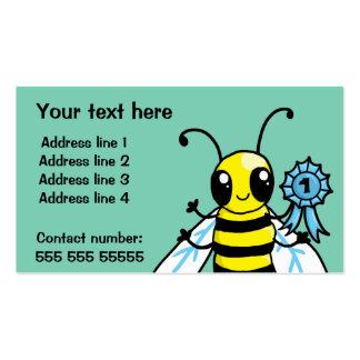 Trabalho duro de abelha ocupada cartão de visita