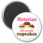 Trabalho engraçado para o historiador dos cupcakes imãs de refrigerador
