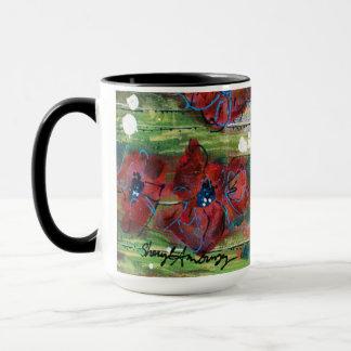 Trabalhos artísticos originais da caneca do café &