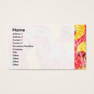 Trabalhos de arte abstratos coloridos cartão de visitas