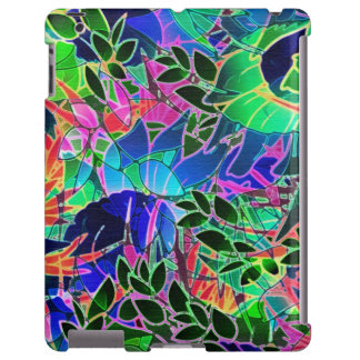 trabalhos de arte abstratos florais do iPad mal lá Capa Para iPad
