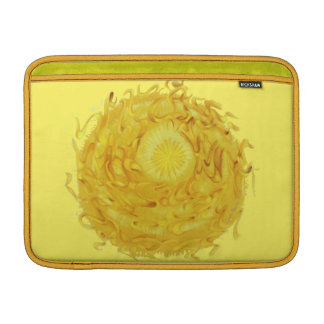 trabalhos de arte amarelos #1 de Chakra do plexo Bolsas Para MacBook Air