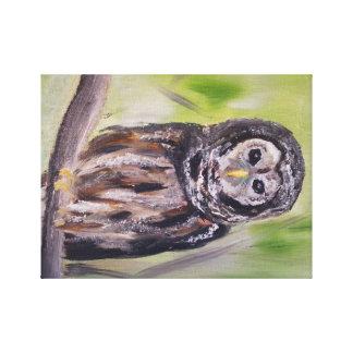 Trabalhos de arte da coruja, impressão da pintura impressão em tela