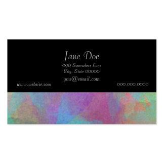 Trabalhos de arte da pintura da aguarela de cartão de visita