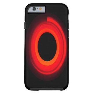 trabalhos de arte de néon vermelhos capa tough para iPhone 6