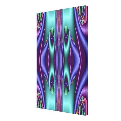 Trabalhos de arte decorativos do fractal com cores impressão de canvas envolvidas