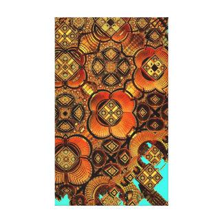 Trabalhos de arte dimensionais do abstrato 3 na la impressão em tela canvas