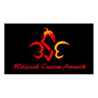 Trabalhos de arte do costume de Walczak Cartão De Visita
