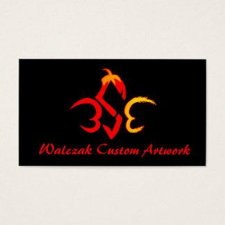 Trabalhos de arte do costume de Walczak Cartão De Visitas