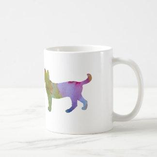 Trabalhos de arte do gato caneca de café