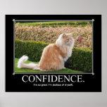 Trabalhos de arte do gato da confiança engraçados posters