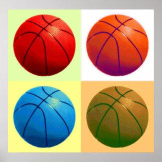 Trabalhos de arte do jogo de basquetebol poster