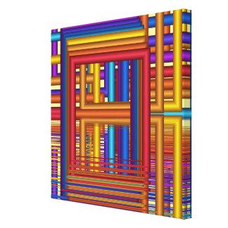 Trabalhos de arte geométricos do fractal de Window Impressão De Canvas Esticadas