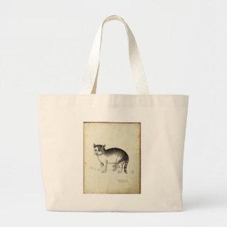 Trabalhos de arte italianos do gato bolsas de lona