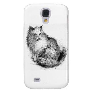 Trabalhos de arte macios do gato capas samsung galaxy s4