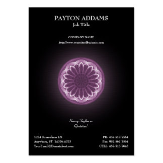 Trabalhos de arte violetas das pétalas - cartão de cartoes de visita