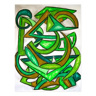 Trabalhos de casa da geometria - cartão da arte