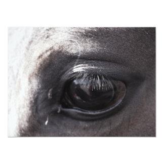 Trabalhos de exposição dos artistas do cavalo convite 16.51 x 22.22cm