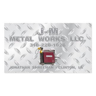 Trabalhos do metal da JM Cartão De Visita