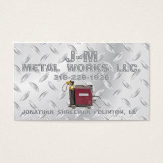 Trabalhos do metal da JM Cartão De Visitas