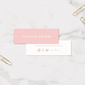 Trabalhos em rede milenares à moda dos meios do cartão de visitas mini