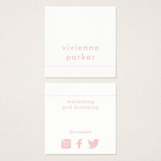 Trabalhos em rede milenares na moda dos meios do cartão de visitas quadrado