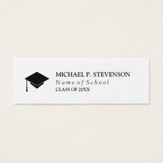 Trabalhos em rede pretos & brancos da graduação cartão de visitas mini